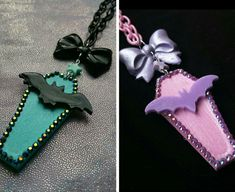 Hey, I found this really awesome Etsy listing at https://www.etsy.com/listing/234150777/coffin-bat-necklace-pastel-goth-soft