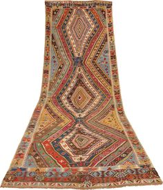 Sivas, Anatolia first half of XIXth century circa cm 520 X 160 kilim Kilims, Tribal Rug, Persian, Bohemian Rug, Weaving, Textiles, Wool, Rugs, Antiques