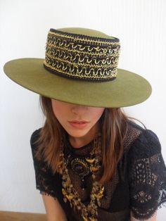 1970s SPANISH Hat WIDE Brim Hat WOOL Hat by iloveswift on Etsy,