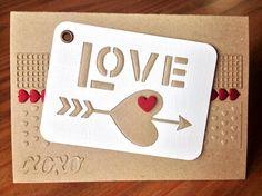 """Die schlichte Karte: """"Love"""" Stanzset von Sizzix"""