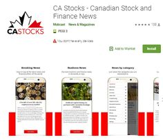 CA Stocks - Canadian Stock and Finance News - Apps on Google Play Perfect Image, Perfect Photo, Love Photos, Cool Pictures, Google Play, News Apps, Business Video, News Magazines, Goods And Services