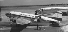 Air Rhodesia Douglas DC-3 and South African Airways Boeing B727 - early 1970s livery schemes