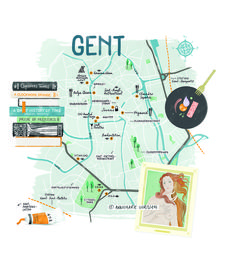 Gent!  My Verona map (a personal project) landed me this new illustration job a few days later: an illustrated map of Gent. If you ever feel like you're wasting time doing personal projects, think again.  Continue reading: https://pencilsandpasta.com/map_gent/