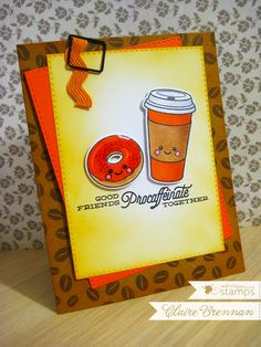 Waltzingmouse Makes. using Coffee Set and We-go-Together stamp sets. We Go Together, Coffee Cards, Cricut Cards, Coffee Set, Cardmaking, Cocoa, Origami, Greeting Cards, Paper Crafts