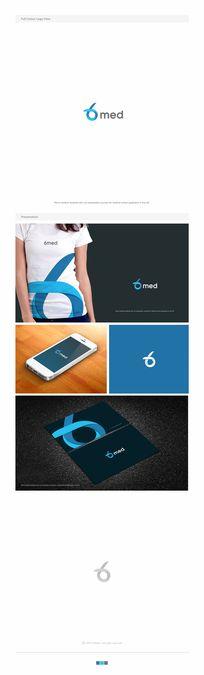 Create a fresh, modern logo for 6med by hafiz kia