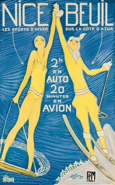 A collection of more than 60 vintage ski and winter sports posters – some worth thousands of dollars – is about to be auctioned. Ski Vintage, Vintage Ski Posters, Jean Gabriel Domergue, Sports Nautiques, Railway Posters, Travel And Tourism, Winter Sports, Nice, The Guardian