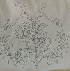 Fabric Painting Tutorial: With this tutorial we'll provide you with using Country Chic Paint to cust Border Embroidery Designs, Floral Embroidery Patterns, Hand Embroidery Stitches, Silk Ribbon Embroidery, Vintage Embroidery, Embroidered Flowers, Tole Painting Patterns, Beadwork Designs, Cutwork