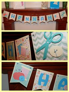 Sewing Party Banner by Hdoodle on Etsy