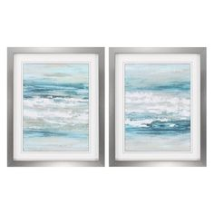 Propac Images At The Shore Framed Painting Print - Set of 2 - 3770