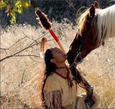 Native American and Horse
