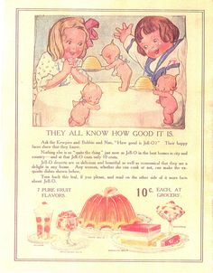 Rose O'Neill Jell-O ad from the 1900's
