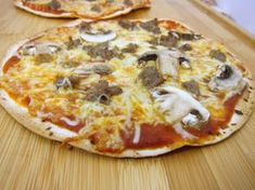Cracker Pizza ~ Use a low carb tortilla and add your favorite high protein/low carb toppings and voila....HEALTHY PIZZA