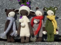 BINA, LUPO, KIRA & DIRK made by Claudia M. / crochet pattern by lalylala