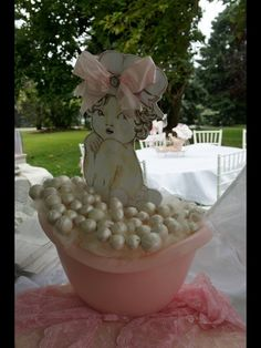 shabby chic baby shower ideas | Pink and White shabby chic Baby Shower Party Ideas | Photo 10 of 35 ...