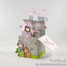 Hello crafty friends! Today I wanted to share with you a fun castle-themed Box Card featuring both the Once Upon a Time and Knight in S...