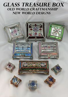 Leaded Glass, Mosaic Glass, Fused Glass, Glass Art, Pretty Knives, Glass Jewelry Box, Recycled Wine Bottles, Stained Glass Ornaments, Sea Glass Crafts
