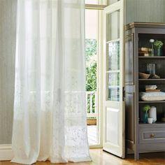 Visillo bordado blanco - Villalba Interiorismo
