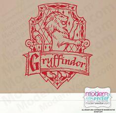 Harry Potter Vinyl Wall Decal Design Decor Gryffindor House Hogwarts Crest | eBay