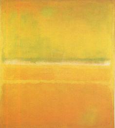 No. 14 No. 10 Yellow Greens by Mark Rothko