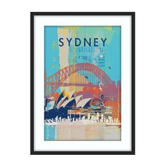 Cities IV Framed Print: Pretty obsessed with these prints and the colors used!