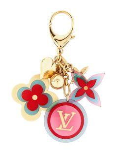 Louis Vuitton chic charm key chain. #accessory #LV