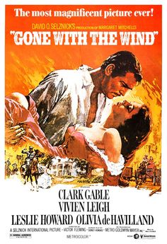 Gone With The Wind - Home Theater Decor - Classic Movie Romance Poster Print - 13x19 - Vintage Movie Poster - Clark Gable Vivien Leigh. $19.50, via Etsy.
