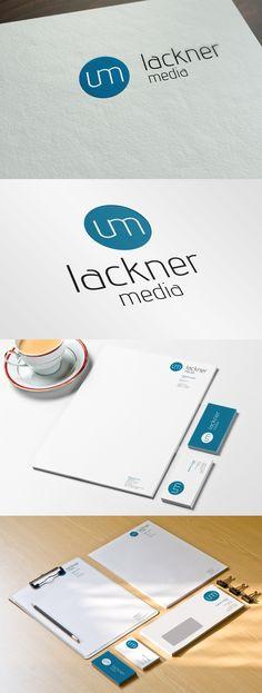Auftragsarbeit für den Kunden Lackner Media Logodesign, Briefpapier, Visitenkarte & Kuvert http://www.lackner-media.at