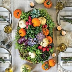 Try this Pumpkin Centerpiece for Your Fall Party