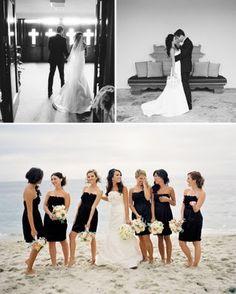 Black short bridesmaid dresses...LOVE