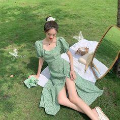 Pretty Dresses, Beautiful Dresses, French Women Style, French Style Dresses, Bohemia Dress, Korean Dress, Korean Girl Fashion, Fairy Dress, How To Pose