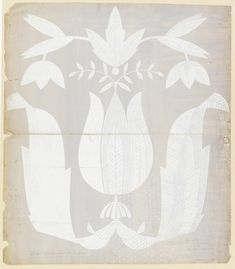 """Drawing, """"""""Exotic Tulip Design"""""""", 1950–70. Tommi Parzinger .1950–70. Brush and gray wash, white gouache, graphite on heavy cream paper. Gift of Donald Cameron. 1998-19-137."""