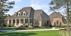 Madden Home Design - The Reserve, Louisiana style house plan, 5 bedrooms, 4.5 baths, bonus room, office/theater, 3851+530=4381 square feet living area