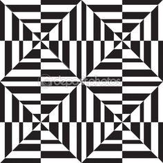 Sem costura padrão geométrico em op art design. arte vetorial — Ilustração de…