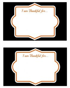 free printable Thanksgiving thought cards