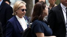 Hillary Clinton arrives at the 9/11 commemoration on 11 September in New York…