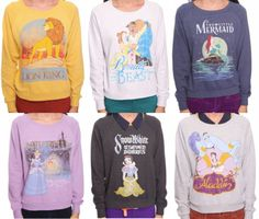 Oh wow. Yes. Call me a kid. Call me a dork. But I want all of these. Especially the Little Mermaid one.
