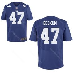 Travis Beckum Blue Jersey  47 Elite Men Nike New York Giants NFL Jersey  Stitched Sale Packers Bart Starr 15 jersey 6d43b6410