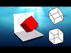 Cómo hallar la visibilidad en diédrico 1 - Reglas básicas (Cálculo de partes vistas y ocultas) - YouTube