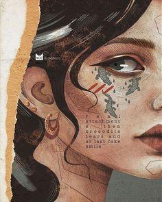 portrait drawn by artist from Croatia . Pretty Art, Cute Art, Pix Art, Japon Illustration, Fantasy Illustration, Arte Sketchbook, Art Series, Art Drawings Sketches, Portrait Art