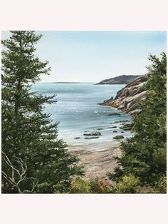 Always be close to one of the most beautiful places in Downeast Maine when you hang the Acadia Canvas Giclee in your cottage living room or bedroom.