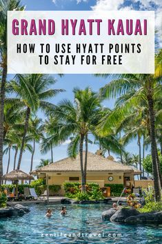 Want to stay at a luxury hotel like the Grand Hyatt Kauai in Hawaii, but don't want to pay big bucks? Here's how to do it! In this post, I'll show you how to use World of Hyatt points to stay at this family friendly, luxury resort on the Hawaiian island of Kauai for free! Honeymoon Vacations, Hawaii Honeymoon, Romantic Honeymoon, Best Resorts, Hotels And Resorts, Best Hotels, Amazing Hotels, Unique Hotels, Cruise Travel