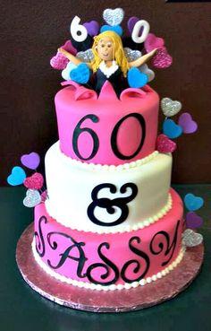 60 and sassy birthday cake