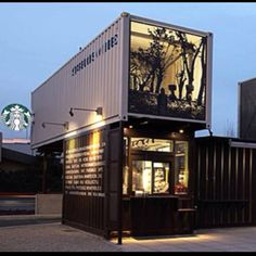 I heart repurposed shipping containers.