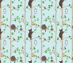 Woodland fabric by einekleinedesignstudio on Spoonflower - custom fabric