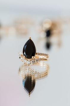 Marrow Fine's Best-Selling Sweet Melissa Black Onyx Ring Marrow Fine Jewelry    by Jillian Sassone Fine Jewelry, Jewelry Making, Black Onyx Ring, Ring Crafts, Right Hand Rings, Beautiful Engagement Rings, Green Tourmaline, Stacking Rings, Sapphire