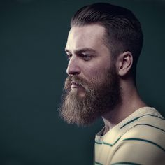 full thick bushy beard and mustache beards bearded man men side shot profile mens' hairstyles cut hair #goodhair #beardsforever