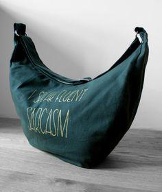 Green Bike Bag, Pram Bag, I speak fluant sarcasm, Waterproof bag, Athleisure style