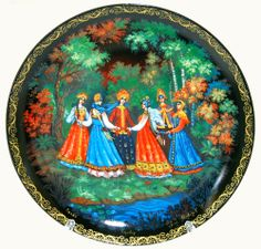 "Plate ""Russian fairytales in porcelain"""
