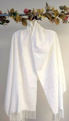Elegant White & Silver Warm Cashmere Wrap - makes a beautiful wedding bridal shawls and an evening wrap gift to treasure for any occasion. http://www.yourselegantly.com/elegant-white-silver-warm-cashmere-wrap.html