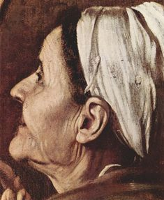 Use of tone to show vast contrast between dark background and highlighted skin of face. Baroque Painting, Baroque Art, Michelangelo Caravaggio, Chiaroscuro, Italian Artist, Detail Art, Portrait Art, Portraits, Renaissance Art
